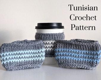 CROCHET PATTERN: PNW Cup Cozy / Tunisian Crochet