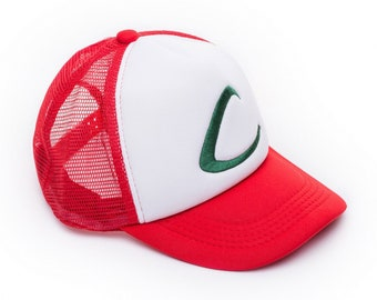 0f70e0b975647 Pokemon Ash Ketchum Baseball Cap - Cool Pokemon Cosplay Accessory - Unisex  One Size Fits Most Adjustable Snapback Cap With Embroidered.