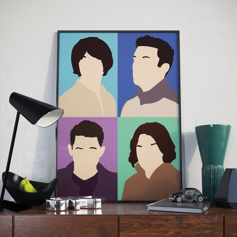 Music poster and prints Colourful and minimalist design Arctic Monkeys Poster