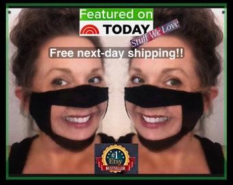 2 PACK - ANTI-Fog Clear Window Face Mask (Large window) No fog guaranteed! Teachers Lip Reading, Deaf Hard of Hearing Asl | Transparent Mask