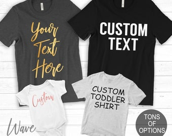 d8310e7b Matching Family Shirts, Custom Family Shirts, Personalized Family Tshirt ,  Customized Family, Onesie, Toddler, Youth, Unisex, Shirt, Family