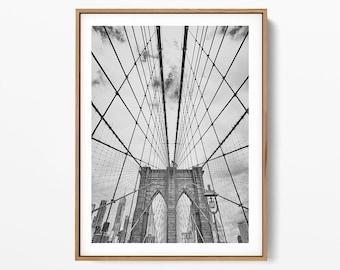 Brooklyn Bridge Print New York City Art, Printable, NYC Photography, Printable Wall Art, Art Print