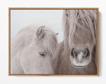Horses Print, Icelandic Horses Print Farmhouse Print Rustic Decor Modern Wall Art Prints Scandinavian Print