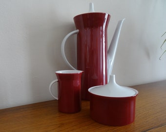 Coffee pot mocha can sugar can milk jug Rosenthal Theo Baumann Vintage