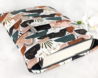 Padded book sleeve - Maxi book sleeve - Celestial book sleeve - Book sleeve with pocket - Large book sleeve - Terrazzo book sleeve Whimsical