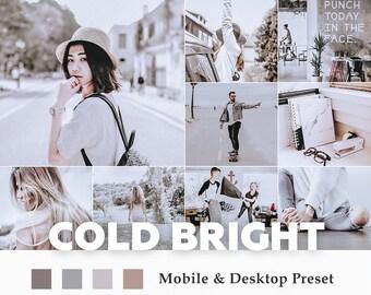 Deluxe Mobile & Desktop Lightroom Presets Cold Bright / Blogger Travel Lifestyle Instagram