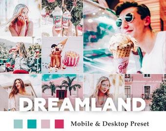 Deluxe Mobile & Desktop Lightroom Presets Dreamland / Blogger Travel Lifestyle Instagram