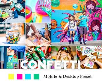 Deluxe Mobile & Desktop Lightroom Presets Confetti / Blogger Travel Lifestyle Instagram