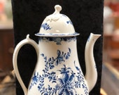 Royal Worcester Hand Painted Coffee Pot c. 1760s