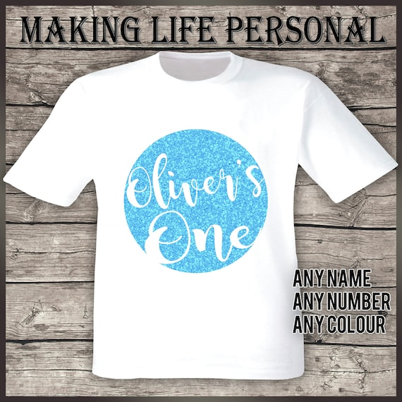 NUMBER T-Shirt Personalised Children/'s Kid Birthday 1st 2nd 3rd 4th 5th NAME