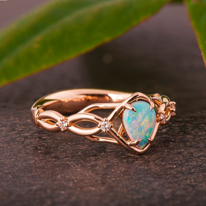 Opal Engagement Ring image 0