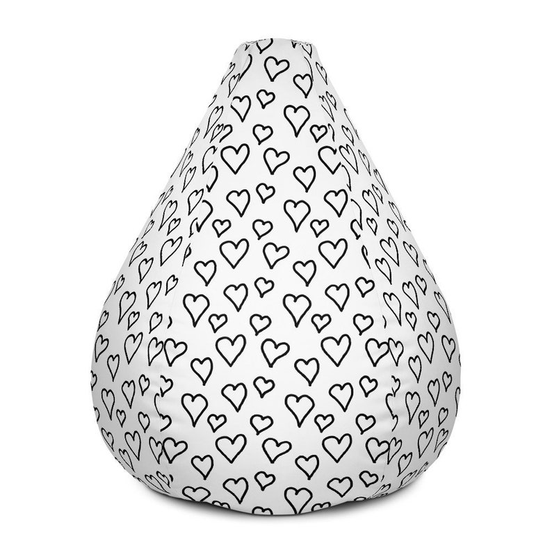 Superb Bean Bag Chair Cover With Hearts Gmtry Best Dining Table And Chair Ideas Images Gmtryco
