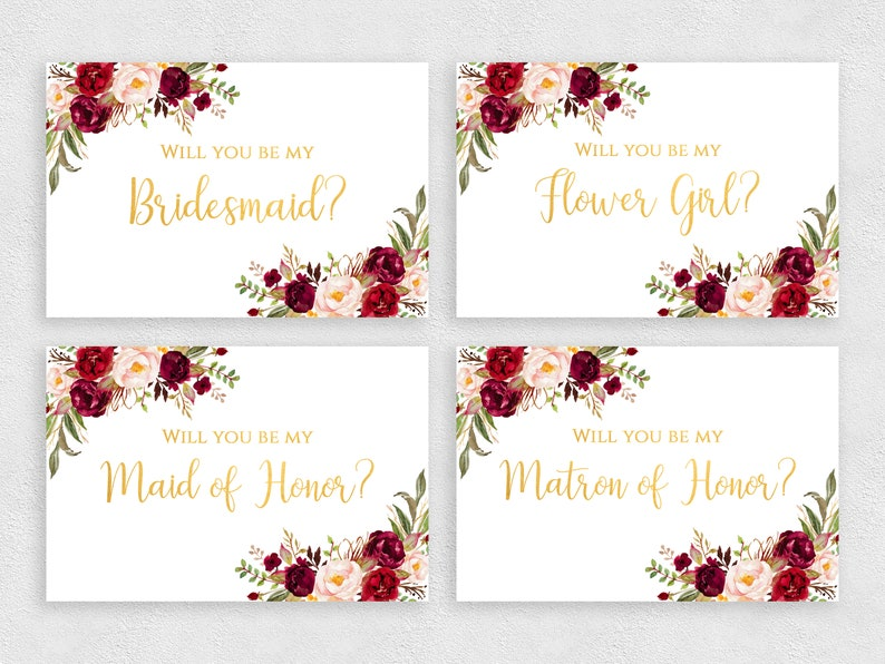 photograph about Bridesmaid Proposal Printable identify Bridesmaid proposal card printable fixed Will oneself be my Flower Woman template Floral gold playing cards pack Instantaneous down load PDF JPEG print