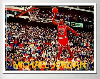 0c4aa52d6e7 Abstract Art Michael Jordan Poster Fly Dunk Basketball poster Art Canvas  Print (No Frame)