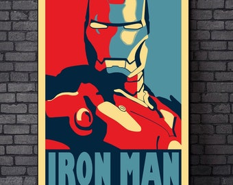 b40f6e49ef6b78 Iron Man Art Painting Print On Canvas Poster Home Decor(No Frame)