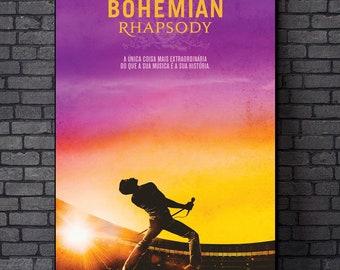 "Rami Malek Movie Bohemian Rhapsody Art Poster 18x12 36x24 40x27/"" Print Product"