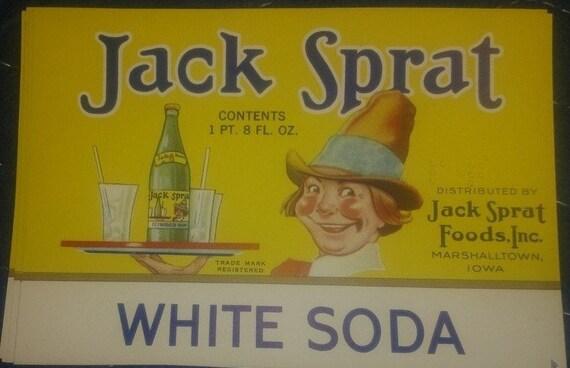Jack Sprat Vintage  Root Beer Soda Label