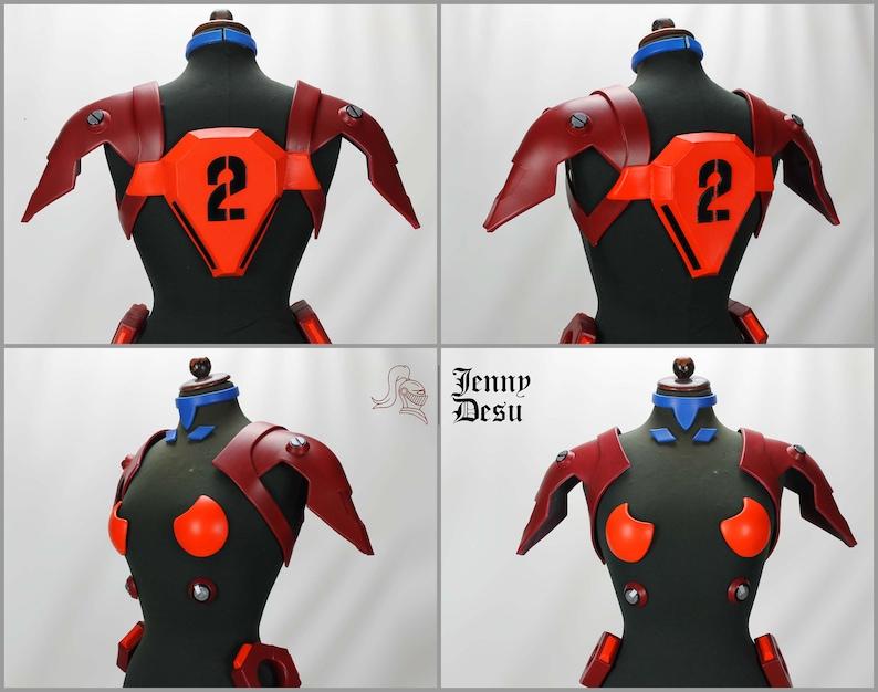 Asuka plugsuit armor pattern