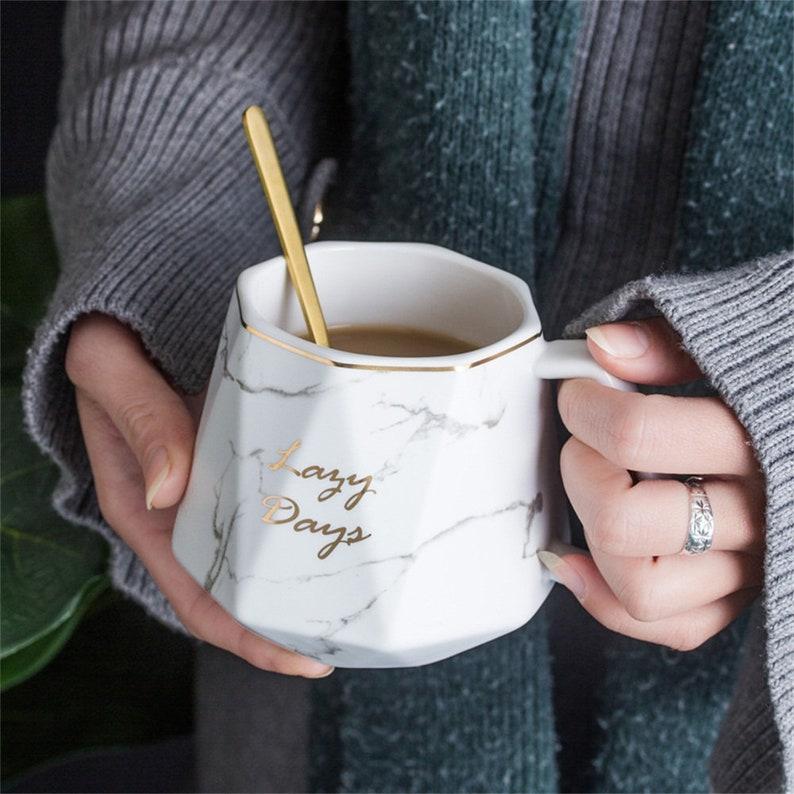 Marble Mug Personalise Mug Custom Name Mug Personalized Mugs image 1