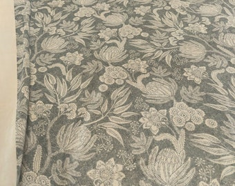 Art Of The Loom Floral Blue CurtainUpholstery Fabric Per Metre