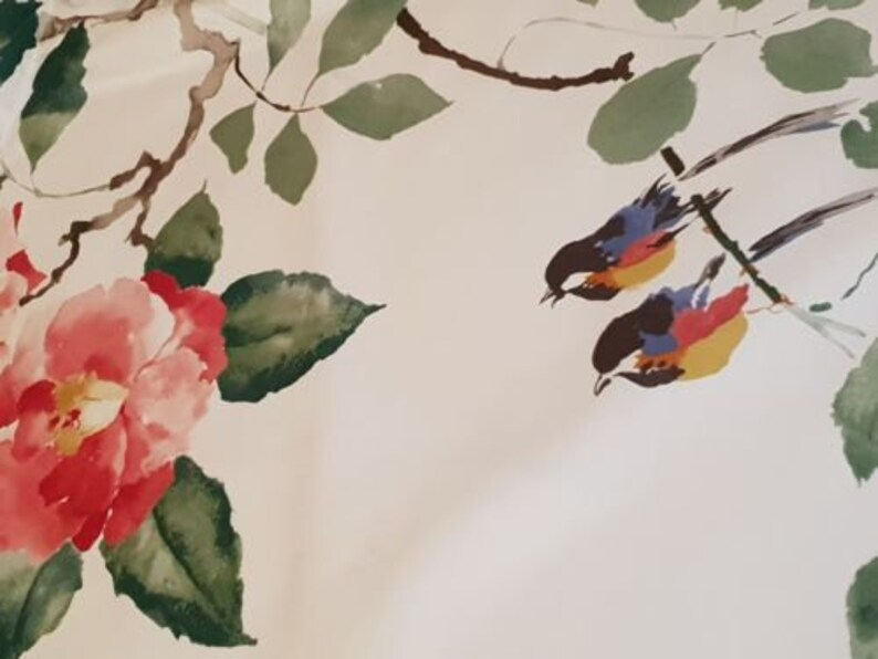 Curtain Craft Fabric 2 Metres Sanderson Magnolia /& Blossom
