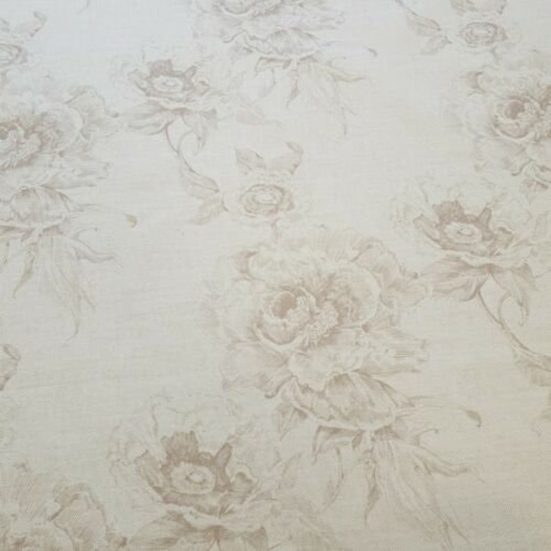 Art Of The Loom Chatsworth Parchment Curtain Craft Fabric 2 Metres Linen Blend