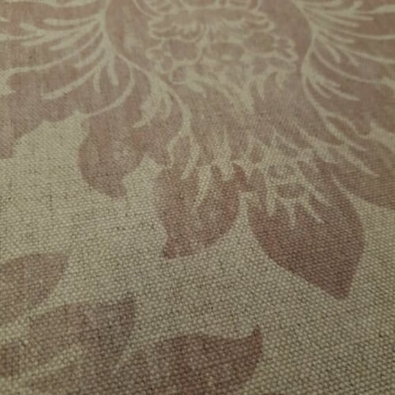 Per Metre Art Of The Loom Chatsworth Clay Curtain Craft Fabric Linen Blend