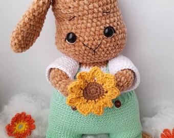 Patrón Conejo Amigurumi- Conejo Teo Amigurumi- PATRÓN CROCHET Conejo - Español- conejo amigurumi- Conejo tejido a crochet