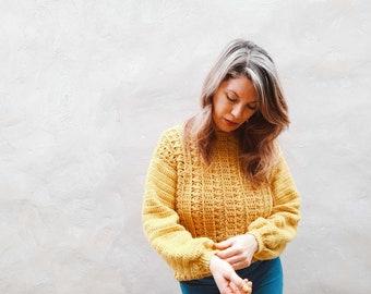 Sweater Camille- Patrón de CROCHET en ESPAÑOL