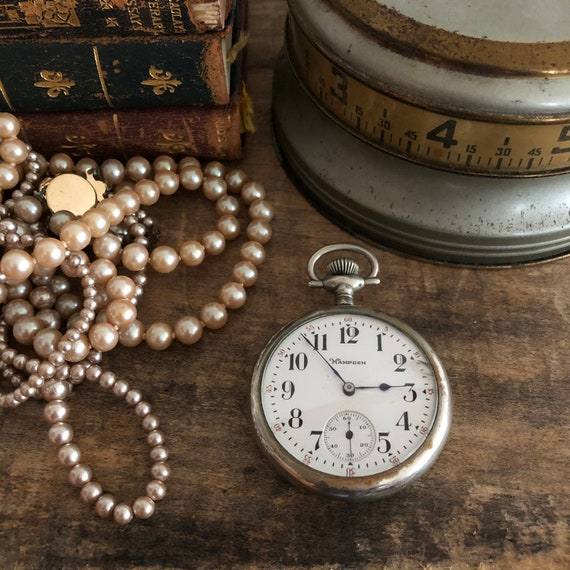 Vintage Hampden Men's Pocket Watch Parts Jewelry A