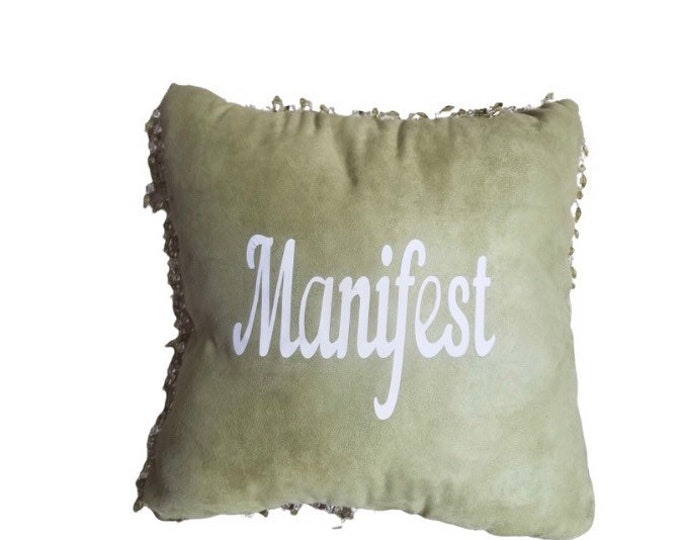 Manifest Pillow| Living Room Pillow| Pillow| Throw Pillow