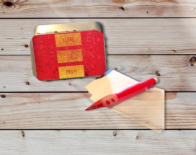 PRAYER BOXES (1 THESSALONIANS 5: 17)|Mini tin prayer box| prayer box