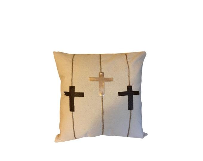 Finished Work Pillow | Cross Pillow| Cross Art Pillow| Throw Pillows