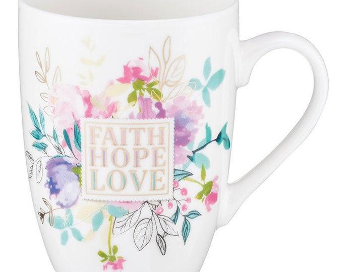 Christian Mug | Coffee Mug| Bible Coffee Mug | Mugs For women| Faith Hope Love Mug