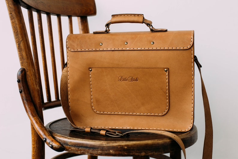 Leather briefcase Handmade leather briefcase Large leather briefcase Men/'s briefcase