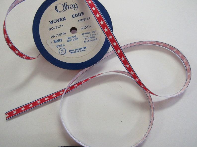 Stars and Stripes Vintage Grosgrain Woven Novelty Ribbons