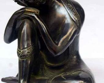 Black Oxidation Resting Buddha