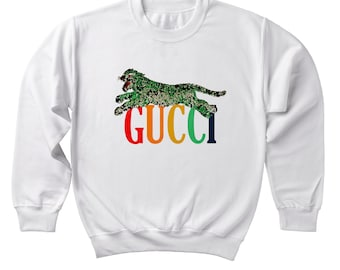 8e5c30dd525 Gucci Inspired Leopard Sweatshirt Gucci Designer Inspired Sweater Unisex  Man Women Sweater Clothing