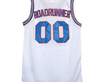 d3bfb4e29a6757 Road Runner  00 Tune Squad White Jersey Basketball Costume Roadrunner Toon  Shirt Gift Halloween 90s Uniform