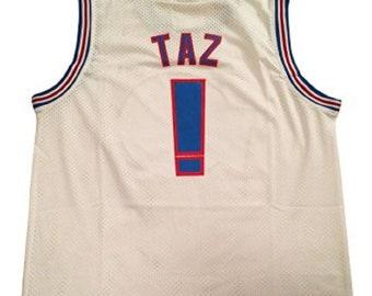 5d27e54850a Taz Tune Squad Jersey Basketball ! Costume Uniform Tasmanian Devil Shirt  Gift Halloween 90s Movie