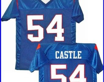 d6bfb1104e5 Thad Castle #54 Mountain Goats Football Jersey Blue Uniform Costume Shirt  Gift Halloween State