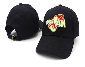 85009ba367af1c Space Jam Baseball Cap Movie Hat Michael Jordan Basketball Tune Squad 90s  Dad Hat Gift