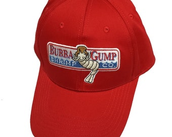 8209a62529647 Bubba Gump Shrimp Adult Baseball Cap Company Running Jog Hat Forrest  Costume Gift Movie 90s