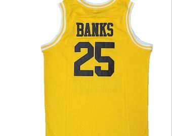 2322ed789697 Carlton Banks  25 Yellow Basketball Jersey Bel Air Academy Shirt Gift  Halloween 90s Uniform TV Show