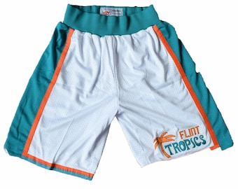 54661d5f2ba2 Flint Tropics White Basketball Shorts Costume Movie Jersey Jackie Moon Ed  Monix Coffee Black Uniform Shirt Gift Halloween Sports