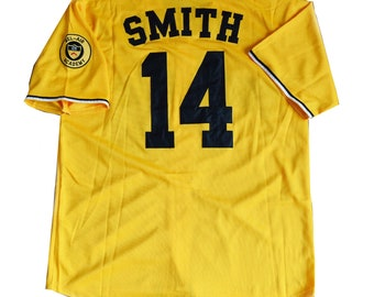 25e9c58aa3cd Will Smith  14 Yellow Baseball Jersey Yellow Bel Air Academy Uniform Shirt  Gift Halloween 90s