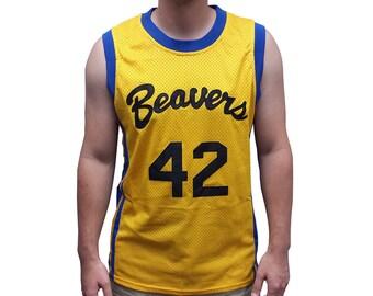 6299557e9005 Scott Howard  42 Beavers Basketball Jersey Costume 80s Werewolf Movie Shirt  Gift Halloween Uniform