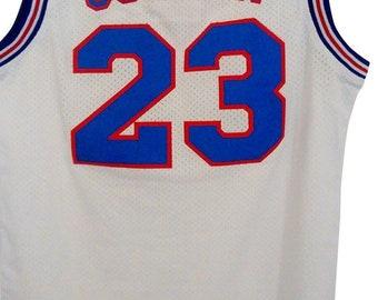 e8a78e800f2954 Michael Jordan Tune Squad White Jersey Basketball MJ  23 Costume Movie Uniform  Shirt Gift Halloween 90s Toon Cosplay