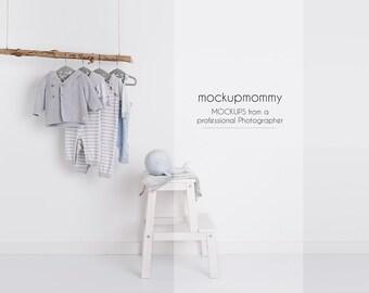 MockUp | kids room | white wall | newborn photography | pure