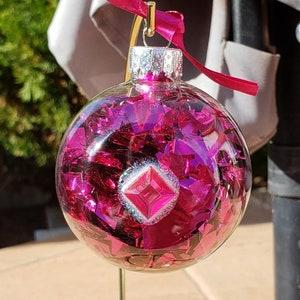 Vegas Golden Knights 60mm Glass Ball Ornament